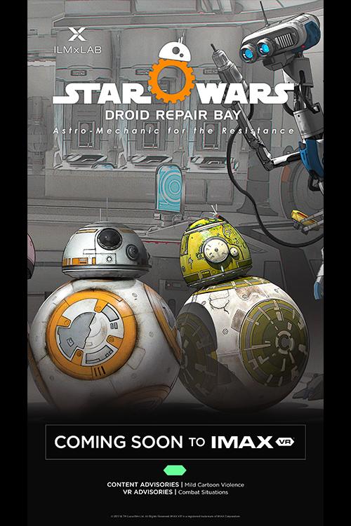 dd5127e9262 IMAX VR  Star Wars  Droid Repair Bay at an AMC Theatre near you