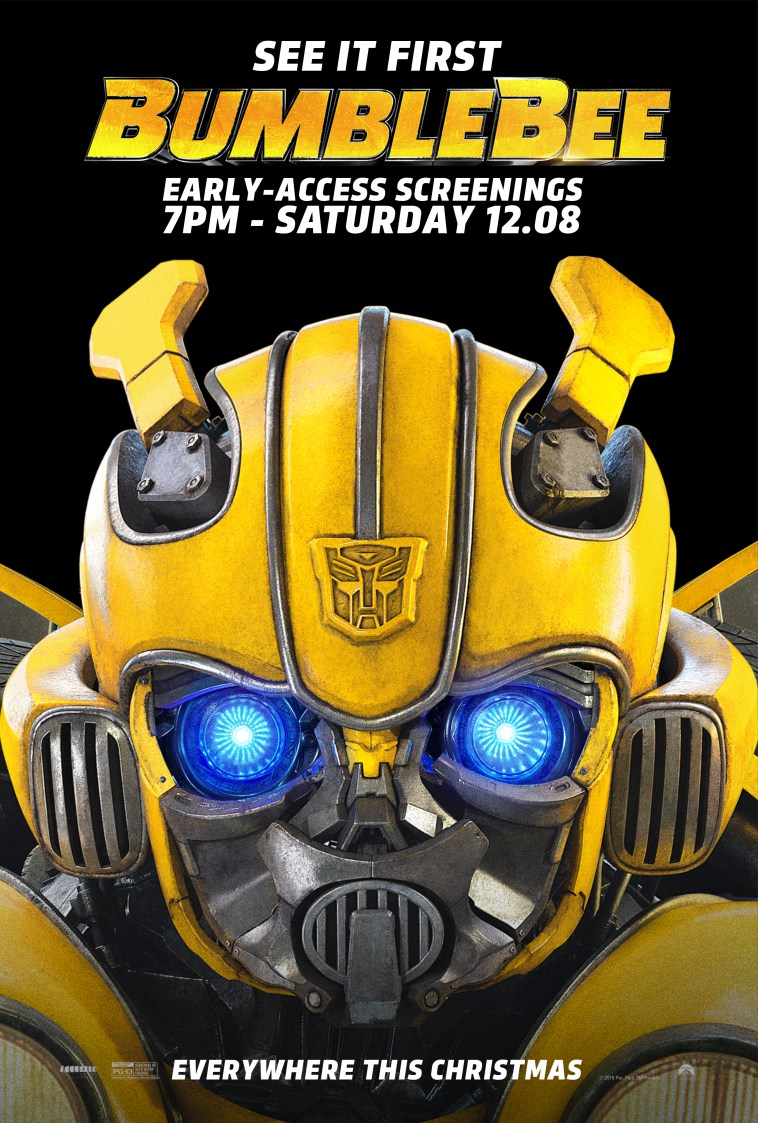 Bumblebee Early Access Screening At An Amc Theatre Near You