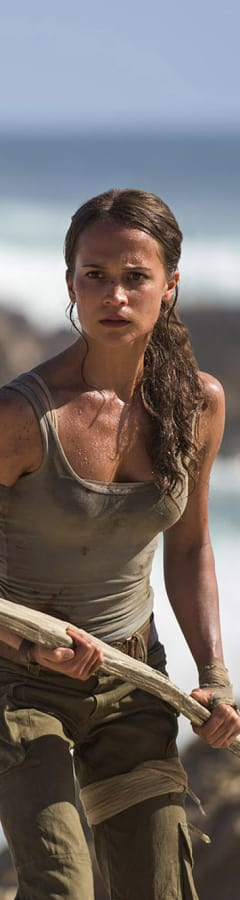Movie still from Tomb Raider