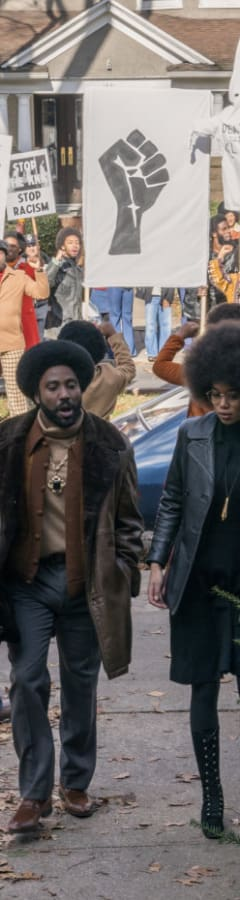 Movie still from BlacKkKlansman Advance Showing in Dolby Cinema