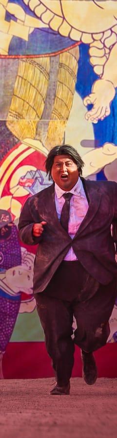 Movie still from Fat Buddies