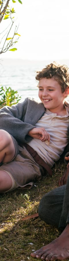 Movie still from Storm Boy