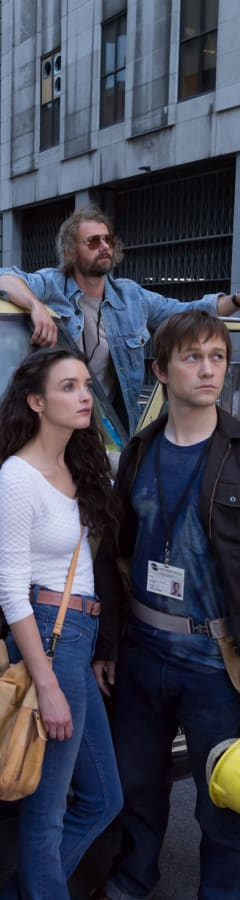 Movie still from The Walk