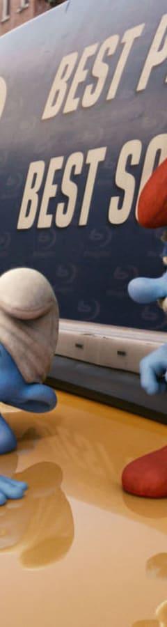 Movie still from The Smurfs
