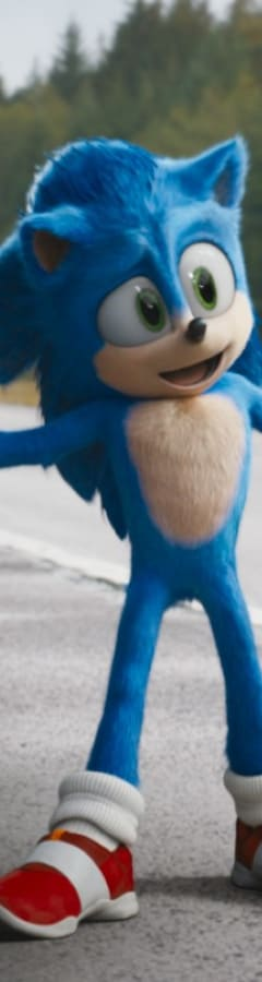 Movie still from Sonic The Hedgehog