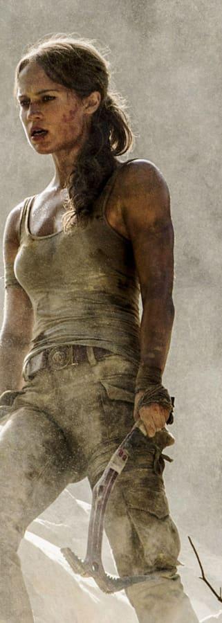 Movie still from Tomb Raider