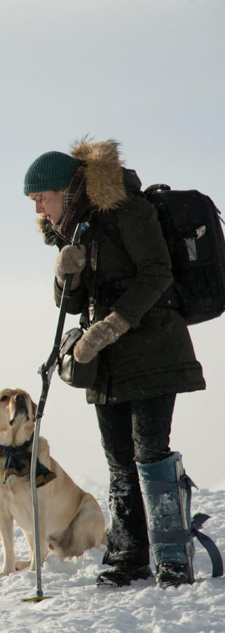 Movie still from The Mountain Between Us