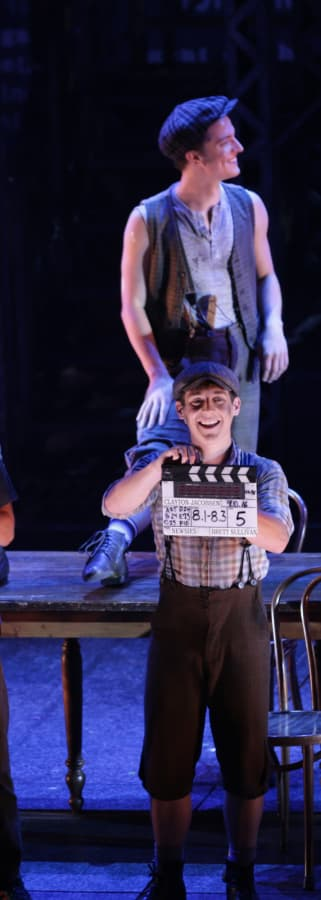 Movie still from Disney's Newsies: The Broadway Musical!