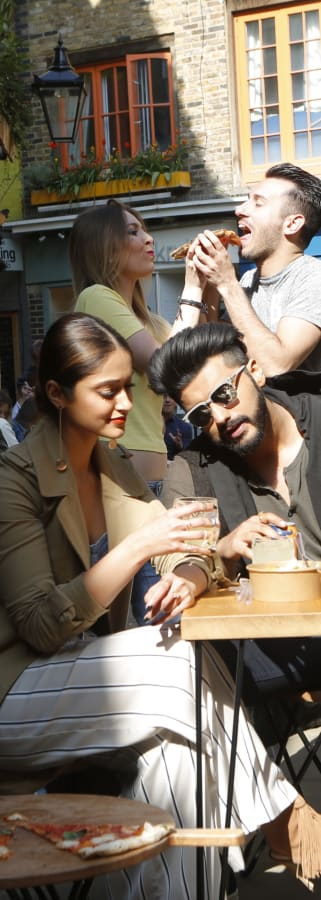 Movie still from Mubarakan