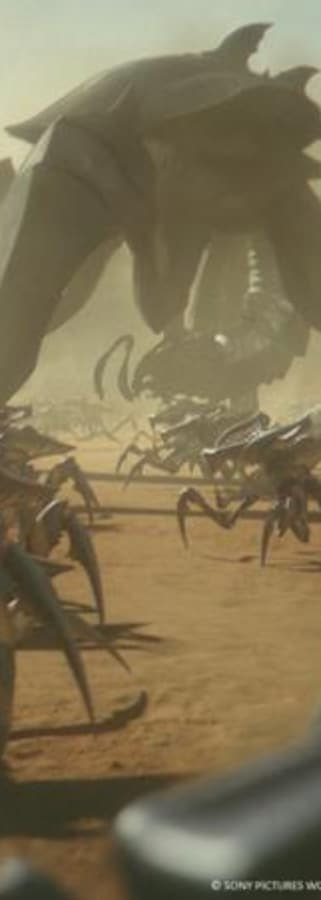 Movie still from Starship Troopers: Traitor of Mars
