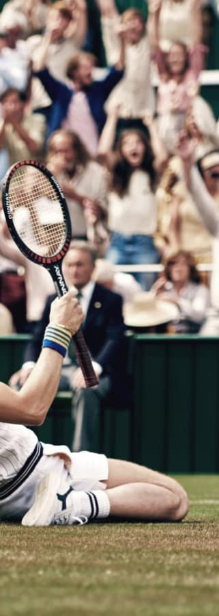Movie still from Borg vs. McEnroe