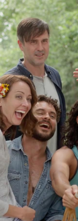 Movie still from Amanda And Jack Go Glamping