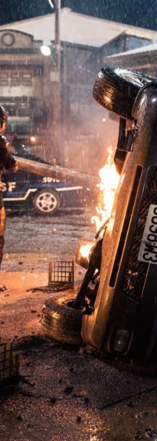 Movie still from Bleeding Steel