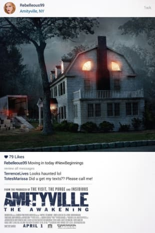 movie poster for Amityville: The Awakening