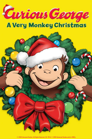 movie poster for Curious George: A Very Monkey Christmas