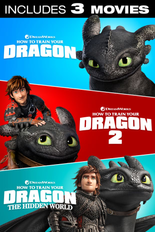 movie poster for How to Train Your Dragon Trilogy