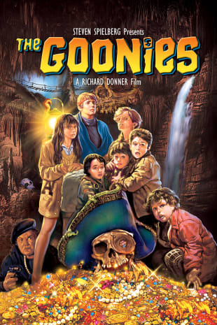 movie poster for The Goonies