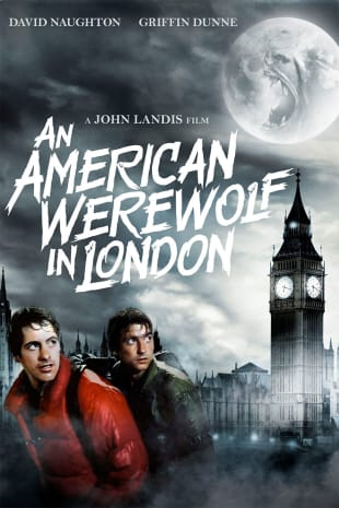 movie poster for AN American Werewolf In London