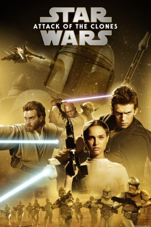 movie poster for Star Wars: Ep. II - Attack Of The Clones