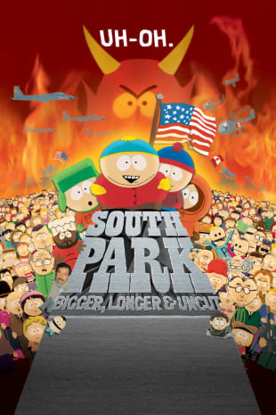 movie poster for South Park: Bigger, Longer & Uncut