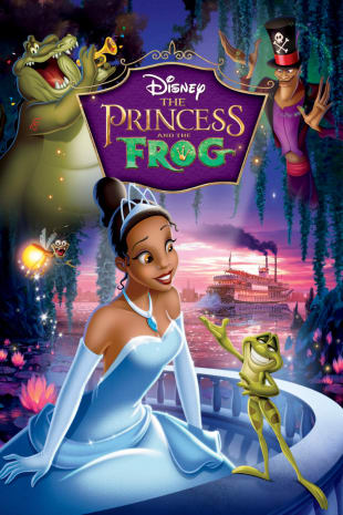 movie poster for The Princess and the Frog