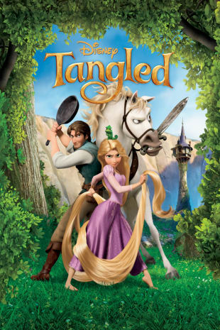 movie poster for Tangled
