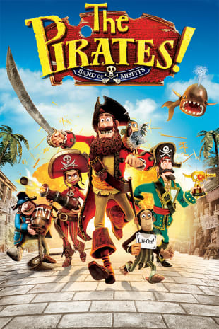 movie poster for The Pirates! Band of Misfits