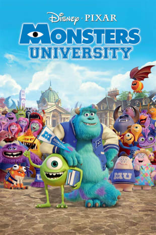movie poster for Monsters University