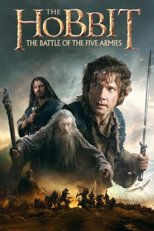 movie poster for The Hobbit: The Battle of Five Armies