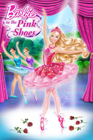 movie poster for Barbie in the Pink Shoes