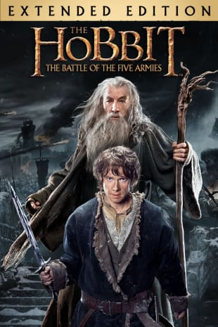 movie poster for The Hobbit: The Battle of the Five Armies (Extended Edition)