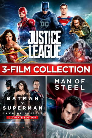 movie poster for Justice League/Batman v Superman: Dawn of Justice Ultimate Edition/Man of Steel