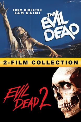 movie poster for Evil Dead 1 & 2 Double Feature
