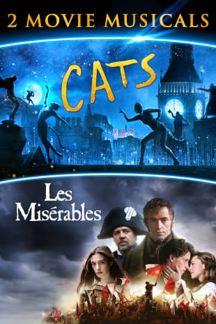 movie poster for Cats/Les Misérables 2-Movie Musicals
