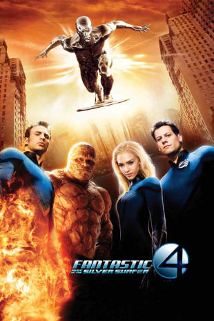 movie poster for Fantastic Four:Rise Of The Silver Surfer