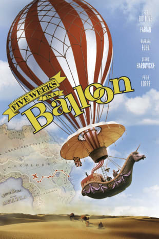 movie poster for Five Weeks In a Balloon