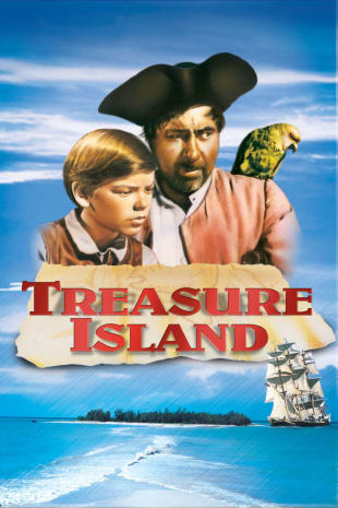movie poster for Treasure Island (1950) (re)