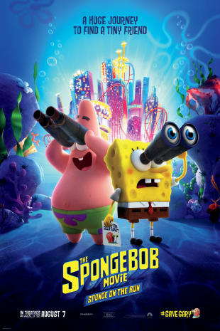 movie poster for The SpongeBob Movie: Sponge On The Run