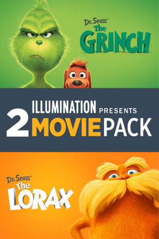 movie poster for Illumination Presents: Dr. Seuss' The Grinch & Dr. Seuss' The Lorax 2-Movie Pack