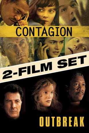 movie poster for Outbreak / Contagion (2pk)