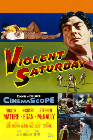 movie poster for Violent Saturday