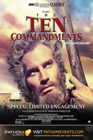 movie poster for The Ten Commandments 65th Anniversary presented by TCM