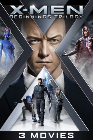 movie poster for X-Men The Beginnings Trilogy