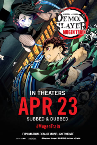 movie poster for Demon Slayer the Movie: Mugen Train