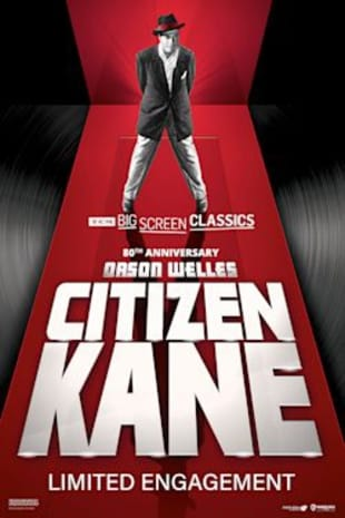movie poster for Citizen Kane 80th Anniversary presented by TCM