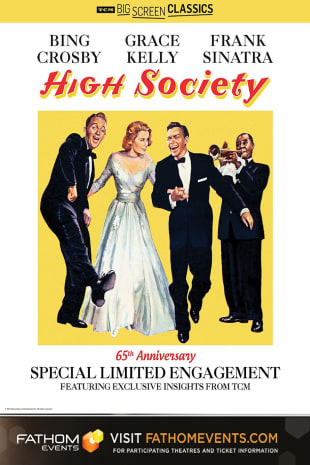 movie poster for High Society 65th Anniversary presented by TCM