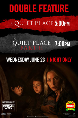 movie poster for A Quiet Place Double Feature