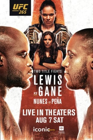 movie poster for UFC 265: Lewis vs. Gane