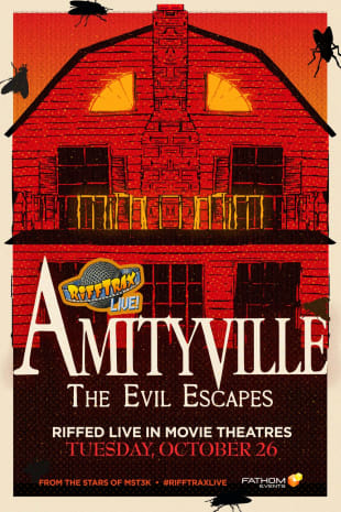 movie poster for RiffTrax Live: Amityville 4: The Evil Escapes