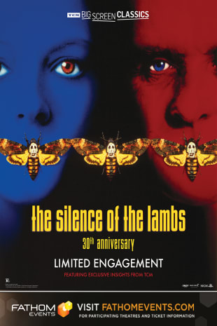 movie poster for The Silence of the Lambs 30th Anniversary presented by TCM